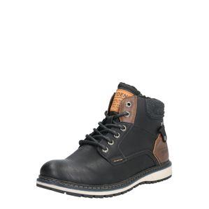 TOM TAILOR Šněrovací boty  černá