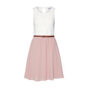 ABOUT YOU Šaty 'Danielle'  růžová / bílá