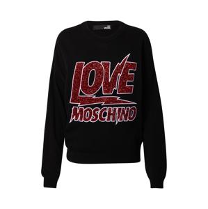 Love Moschino Mikina  červená / černá