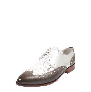 MELVIN & HAMILTON Šněrovací boty 'Jessy 38'  hnědá / stříbrná / bílá