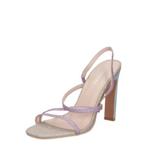 GLAMOROUS Páskové sandály  růžová / modrá / béžová