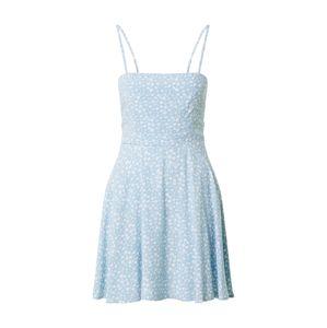 NA-KD Letní šaty  světlemodrá / bílá
