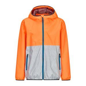 KILLTEC Outdoorová bunda 'HAIGO COLOURBLOCK JR'  tyrkysová / oranžová / stříbrná