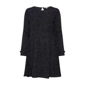 TOM TAILOR DENIM Šaty 'Printed Dress'  černá / bílá