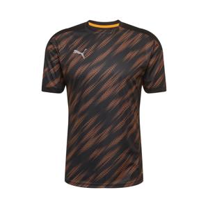 PUMA Funkční tričko  černá / tmavě oranžová / tmavě šedá