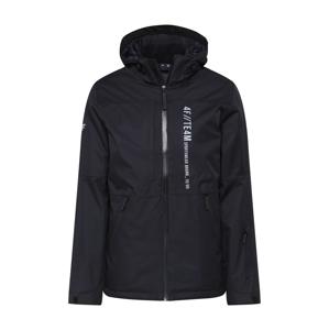 4F Outdoorová bunda  černá / bílá
