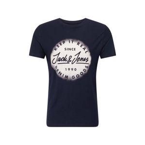 JACK & JONES Tričko  námořnická modř / bílá
