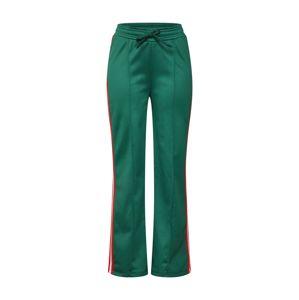 NA-KD Kalhoty 'striped wide pants'  zelená