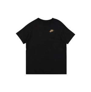 Nike Sportswear Tričko 'FUTURA'  zlatá / černá
