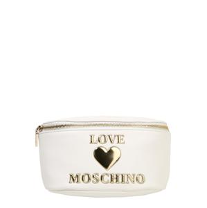 Love Moschino Ledvinka  přírodní bílá / zlatá