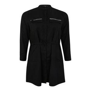 LTB - Love To Be Košilové šaty 'LONNI'  černá džínovina