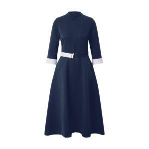 HUGO Šaty  tmavě modrá / bílá