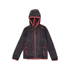 CMP Funkční flísová bunda  černá / červená