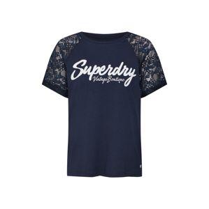Superdry Tričko 'Madeline'  námořnická modř