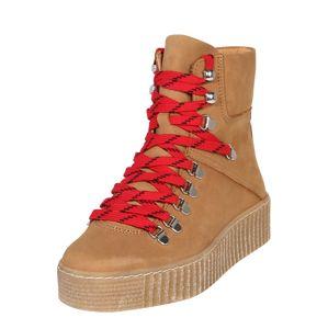 Shoe The Bear Šněrovací kozačky 'AGDA'  světle hnědá