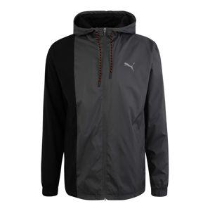 PUMA Sportovní bunda  tmavě šedá / černá