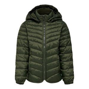 KIDS ONLY Zimní bunda 'konDEMI HOODED NYLON JACKET CP OTW'  zelená