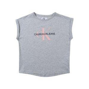 Calvin Klein Jeans Top  šedý melír