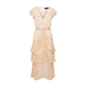 MINKPINK Společenské šaty 'LANA'  bílá / jasně oranžová