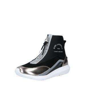 Karl Lagerfeld Kotníkové tenisky 'VITESSE'  stříbrná / černá