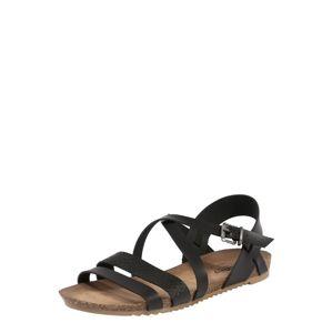 MUSTANG Sandály  černá