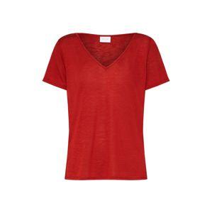 VILA Tričko  červená