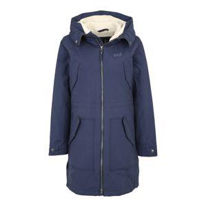 JACK WOLFSKIN Outdoorový kabát 'ROCKY POINT'  tmavě modrá / bílá