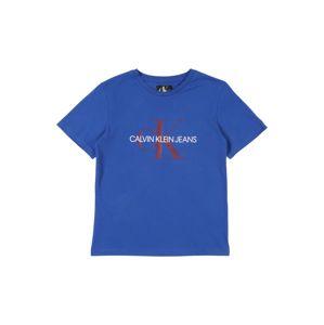 Calvin Klein Jeans Tričko 'MONOGRAM'  modrá