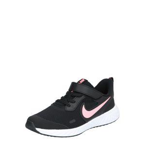 NIKE Sportovní boty 'Revolution 5'  růže / černá