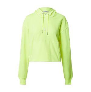 Calvin Klein Mikina  svítivě žlutá / bílá