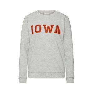Kaffe Mikina 'Iowa'  světle šedá / oranžově červená