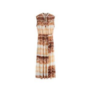 MANGO Letní šaty 'Tayito'  bílá / hnědá