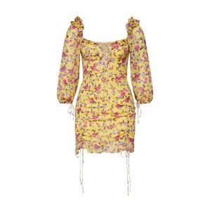 For Love & Lemons Letní šaty  žlutá / mix barev