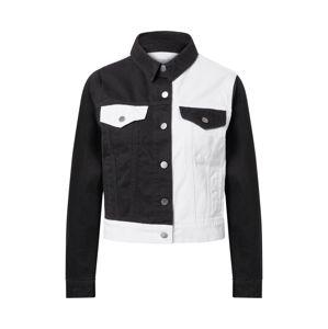 NU-IN Přechodná bunda  černá džínovina / bílá džínovina
