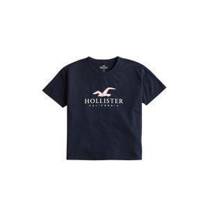 HOLLISTER Tričko 'Timeless'  bílá / námořnická modř