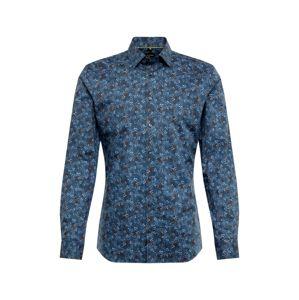 OLYMP Košile 'No. 6 Print Floral'  námořnická modř