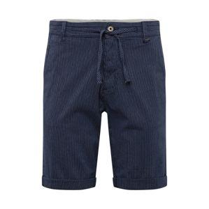 JACK & JONES Chino kalhoty  námořnická modř / bílá