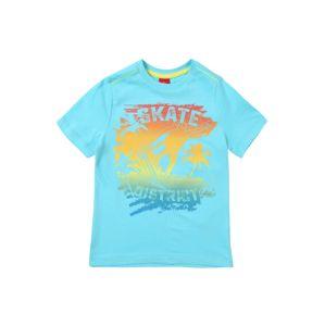 S.Oliver Junior Tričko  modrá / aqua modrá / oranžová