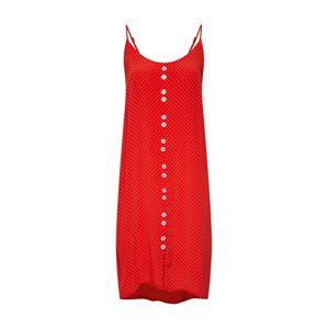 OBJECT Letní šaty 'Lemon'  červená / bílá