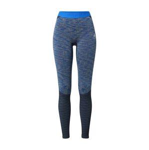 ODLO Sportovní kalhoty  modrá / noční modrá