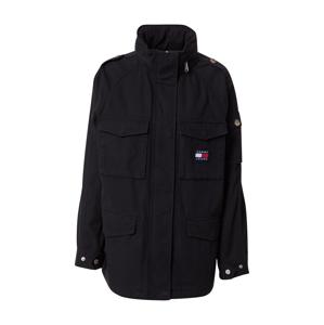 Tommy Jeans Přechodná bunda  černá / bílá / červená / marine modrá
