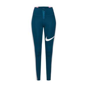 NIKE Sportovní kalhoty 'Power'  bílá / tmavě modrá / růžová