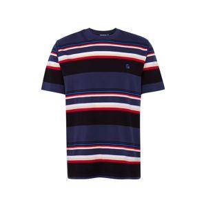 Carhartt WIP Tričko  rezavě červená / tmavě modrá / bílá