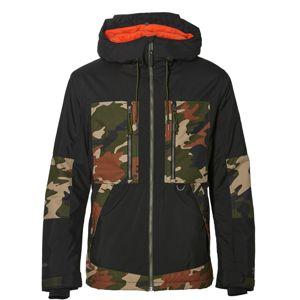 O'NEILL Sportovní bunda  světle béžová / hnědá / zelená / černá