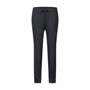ESPRIT Kalhoty se sklady v pase  tmavě šedá