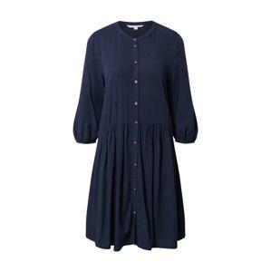 TOM TAILOR DENIM Košilové šaty  námořnická modř
