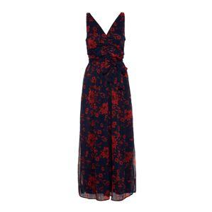 VERO MODA Šaty  noční modrá / červená