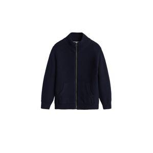 MANGO KIDS Pletená bunda  námořnická modř