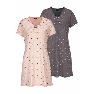 VIVANCE Noční košilka  bledě fialová / růžová