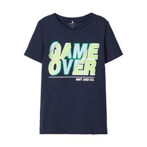 NAME IT Tričko  noční modrá